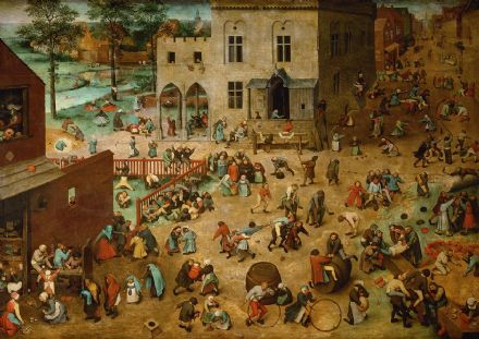 Bruegel the Elder, Pieter: Children's Games. Fine Art Print/Poster. Sizes: A4/A3/A2/A1 (00266)